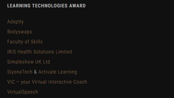 Bodyswaps finalist at the LPI Awards