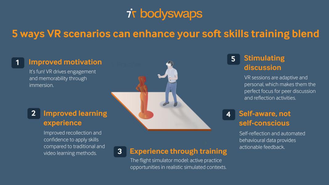 Five ways VR scenarios can enhance your soft skills training blend